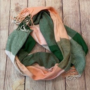 Green and pink scarf